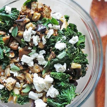 Kale and Eggplant Summer Pasta Recipe | SideChef
