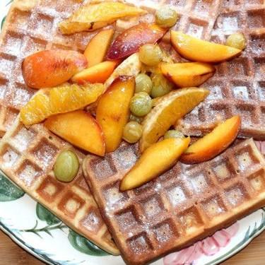 Belgian Waffles with Caramelized Fruit Recipe | SideChef