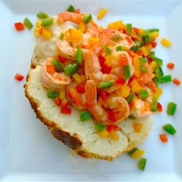 Baked Cauliflower and Confetti Shrimp Recipe | SideChef
