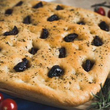 Italian Focaccia Bread with Sun Blushed Tomatoes and Rosemary Recipe | SideChef