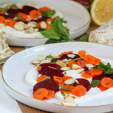 Roasted Beet Salad with Pickled Carrots Recipe | SideChef