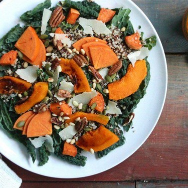 Pumpkin & Kale Salad and Pumpkin, Quinoa & Sweet Potato Baby Food Recipe   SideChef