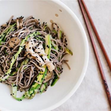 Sesame Plum Marinated Vegetables and Soba Noodles Recipe | SideChef