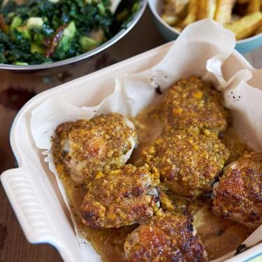 Roast Chicken Thighs with Dijon Marmalade Recipe   SideChef